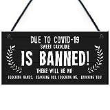 RED OCEAN Funny Bar Sign Sweet Caroline Banned Novelty Bar Pub Garden Sign Hanging Gift
