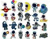 Parches de planchado Parches Termoadhesivos Infantiles Decorativos Ropa 24 Piezas Parche de planeta para Chaquetas Sombrero Ropa Bolsas Decoración