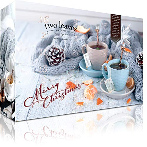 Teebeutel Geschenkset mit 12 Pyramiden-Teebeuteln von Two leaves and a Bud mit Gratis Trinkflasche | Tees und Teemischungen