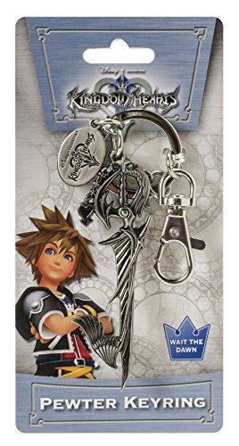 Toy Zany Disney Kingdom Hearts Swords with Dangle Pewter Llavero