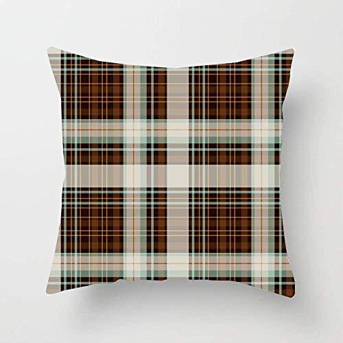N\A Diseño marrón Material de Fondo de Trama Patrón de Jaula Abstracta Vestido de Cruce de células Ropa gráfica Funda de Almohada Funda de Almohada de cojín Cuadrado para sofá Cama