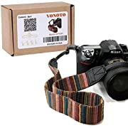 VONOTO Camera Soft Shoulder Neck Strap Vintage Antislip Belt for All DSLR Camera Canon Nikon Sony Pentax