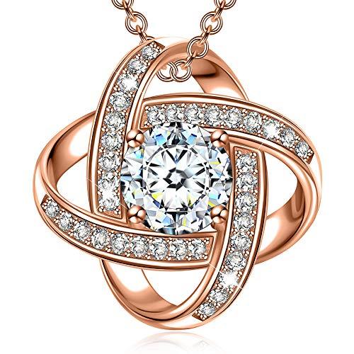 Regalos Alex Perry collar para las mujeres de chicas Amigos Sus joyería personalizada Rose de plata pendientes de oro de los regalos de cumpleaños aniversario para Día de la Madre de San Valentín