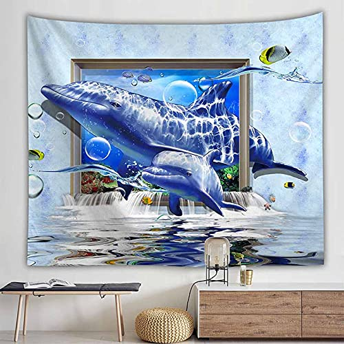 Paisaje natural ola oceánica tapiz colgante de pared tapiz hippie revestimiento de pared decoración de la casa de campo tapiz psicodélico A4 150x200cm