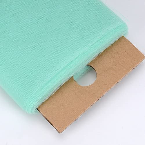 Mint Tea Tree Tulle Fabric for Dress Tulle Net Fabric Party Decoration Wedding Tulle Fabric Bolt 54 inch 40 Yards Mint Tulle Fabric