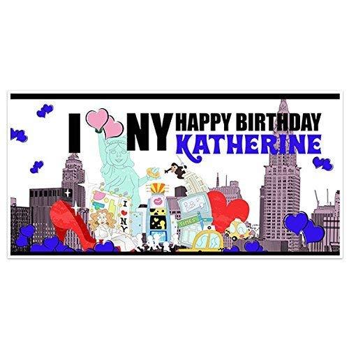 Amazon Com I Love New York Birthday Banner Party Decoration Backdrop Handmade