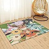 Tappeto da salotto grande Pokémon 91 x 61 cm, soffice tappeto per soggiorno, camera da letto e cucina, facile manutenzione