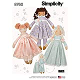 Simplicity CRAFTS Stuffed 25' Doll Toy Sewing Patterns for Kids by Elaine-Heigl, One Size Only
