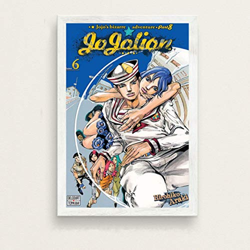 Fymm丶shop Creative Mode Moderne De JoJo Bizarre Adventure Hot Japan Anime Art Peinture Soie Toile Affiche Murale Décor À La Maison No Frame 50X60 Cm
