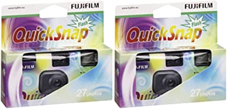 Fujifilm 7130786 QuickSnap 400 Disposable Flash Camera (Pack of 2)
