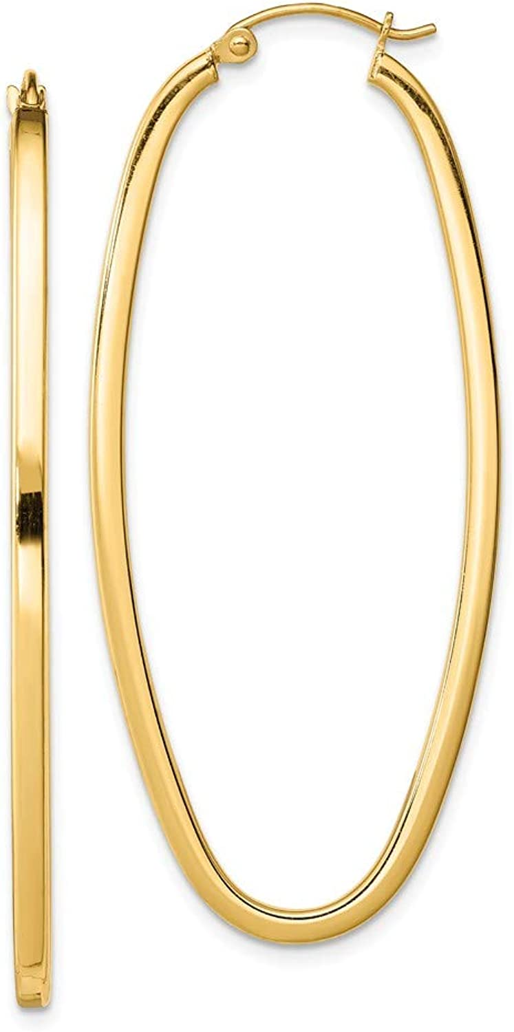 Beautiful Sterling silver 925 sterling Sterling Silver gold Plated Square Tube Oval Hoop Earrings