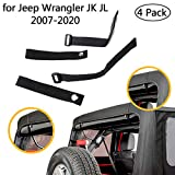 For JK Soft Top Strap for Jeep Wrangler 2007-2018 (4 pack) Car Tie Down Strap Accessorise