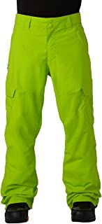 dc lime green snowboarding pants
