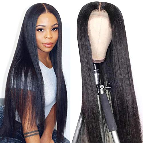 22 Inch Glueless Lace Front Wigs Human Hair Pre Plucked Straight Lace Front Human Hair Wigs 4x4 Closure Human Hair Wig With Baby Hair Brazilian Virgin Lace Frontal Human Hair Wigs for Black Women