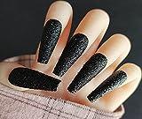VOSOVO 24pcs / set Nails falsos con pegamento Cobertura completa Presione en las uñas Matte Coffin Falso Nail Art Tips Ballerina DIY Manicure Herramientas-11 #_24 piezas
