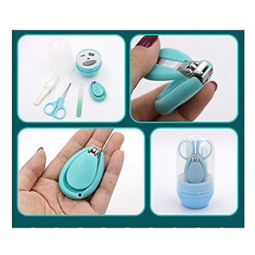 Baby Nagelschere, OYD 4 Stück Baby Nagelknipser Safety Grooming Kit Nagelpflege Maniküre Set mit Schere, Pinzette und Nagelfeile für Neugeborene, Babys und Kinder - 2
