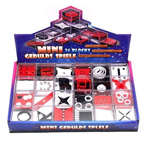 Leic Adventskalender 24Pcs Balance Maze Game Puzzle-Boxen Brain Teaser Lernspielzeug Geschenk mit Stahlkugel für Erwachsene Kinder