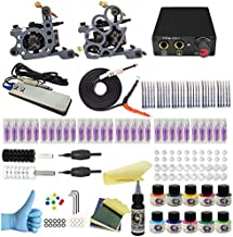 Wormhole Tattoo Complete Tattoo Kit for Beginners Tattoo Power Supply Kit 10 Tattoo Inks 30 Tattoo Needles 2 Pro Tattoo Machine Kit Tattoo Supplies SL-TK034