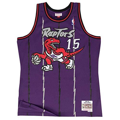 Mitchell & Ness Toronto Raptors Vince Carter 1998 Road Swingman Jersey, S, Púrpura