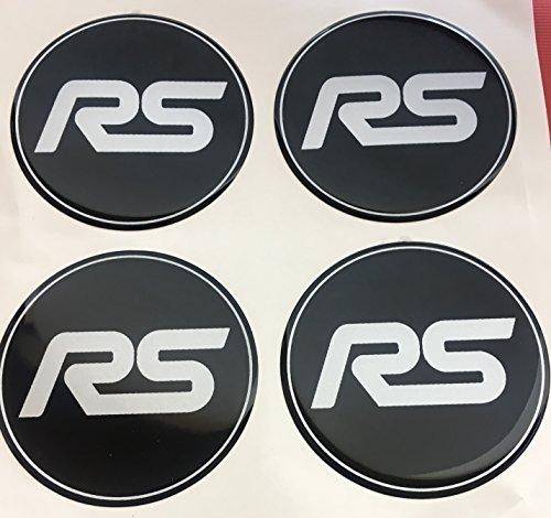 RS 4 Stück 60mm Aufkleber Emblem für Felgen Nabendeckel Radkappen