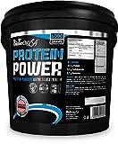 BioTech Protein power Mezcla de Protenas, Sabor Fresa-Pltano - 4000 gr