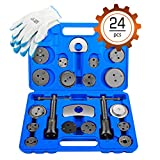 Orion Motor Tech 24-Piece Disc Brake Caliper Tool Kit, Front and Rear Brake Piston Compression Tool,...