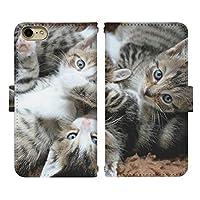 Xperia 8 SOV42 ベルトあり 手帳型 スマホケース スマホカバー di769(G) 猫 ねこ ネコ 動物 アニマル エクスペリア スマートフォン スマートホン 携帯 ケース エクスペリア8 手帳 ダイアリー フリップ スマフォ カバー