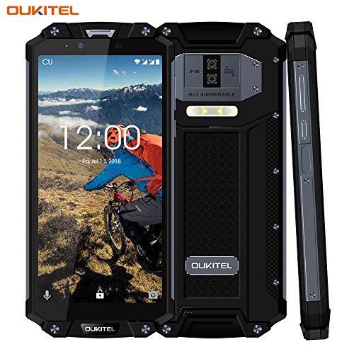OUKITEL WP2 Smartphone robusto,6.0   IP68 Batteria da 10000 mAh Telefono cellulare Android 8.0, 4GB+64GB impermeabile antiurto antipolvere, fotocamera 16MP 2MP+8MP, NFC