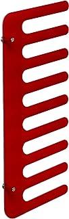 Emporium toallero/Perchero/revistero para el Montaje en la Pared en Peine Form, Estructura de metacrilato, Rojo y Transparente
