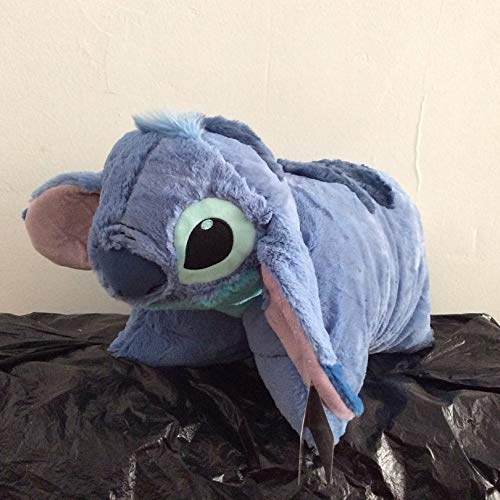 xuritaotao Lilo Und Stitch Plüsch Kissen Gefaltet Verwandeln Stich Kissen Kuscheltiere Weiche Puppe Für Kinder Geburtstagsgeschenk 50 cm