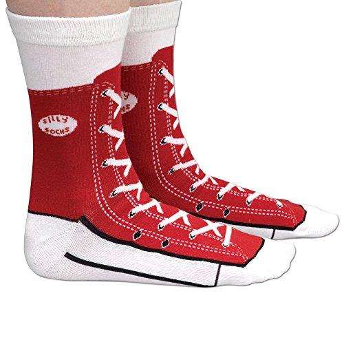 Bits and Pieces - Novelty Socks - Hi-Top Sneaker -...