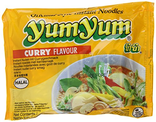 Yum Yum Instant Nudeln Curry 60g, 45er Pack (45 x 60 g)