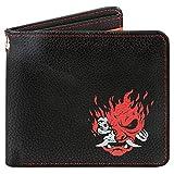 JINX Cyberpunk 2077 Night Samurai Bi-Fold Wallet, Black/Red, Standard Size