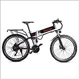 Shengmilo Bicicleta Eléctrica E-MTB 26', Shimano 21vel, Doble suspensión, batería Litio 48V 10.4Ah Motor sin escobillas 500w,Freno de Doble Disco,Plegable