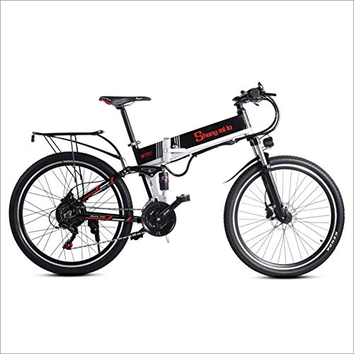 "Shengmilo Elektrofahrräder 500W Elektrofahrrad Ebike Mountainbike Bürstenlosen Motor,26\"",10.4Ah 48V Herausnehmbare Lithium-Akku, elektrisches Trekkingrad für Touren"