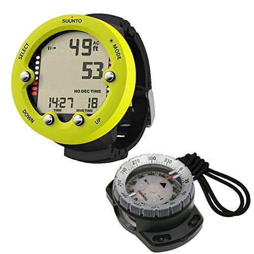 Actionsport Abenteuertauchen Suunto Zoop Novo Tauchcomputer mit Bungee Kompass SK 8 im Set, Farbe:gelb
