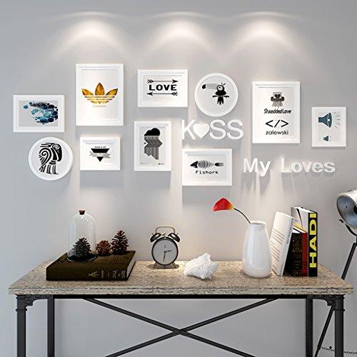 Cadre décoratif 10 PCS/Set décoration de la maison bricolage cadre photo ensembles pour mur famille cadre photo ensembles avec carte photo (Couleur : C)