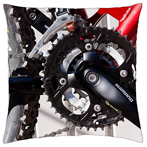 LESGAULEST Throw Pillow Cover (16x16 inch) - Bottom Bracket Gear Mountain Bike Bike Wheel