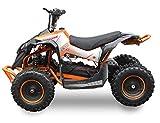 SYX MOTO Kids Mini ATV Bruiser 36V 800W Dirt Quad Electric Four-Wheeled Off-Road Vehicle, Orange