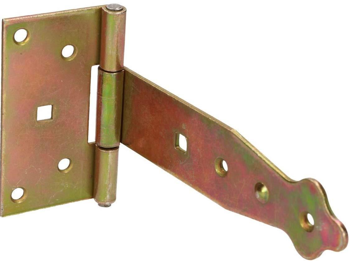 KOTARBAU - Bisagra para puerta de jardín (100-400 mm, galvanizada), Amarillo: Amazon.es: Bricolaje y herramientas