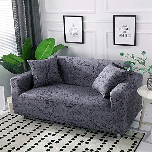 ASCV Funda de sofá de algodón Funda de sofá elástica Fundas de sofá elásticas para Sala de Estar Protector de Muebles de sofá en Forma de L Individual A5 1 Plaza