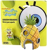 Penn Plax SpongeBob and Pineapple House Aquarium Ornament, by Penn-Plax