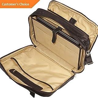 Amazon.com: Sandover Piel Laptop-Ultra Compact Computer Bag 3 Colors Non-Wheeled Business Case NEW | Model LGGG - 8387 |: Sandover