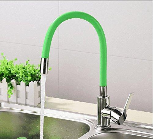 Gyps Kraan Basin Mixer Tap Waterval Kraan Antieke Badkamer Keuken kraan badkamer warm en koud wastafel enkele hole enkele handgreep blender groen Badkamer Tub Kraan Kraan