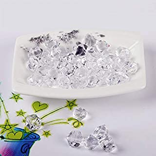 PowerTRC 3 Pound Bag of Clear Acrylic Display Ice Rock Cubes 3 Lbs Bag for Wedding Table and Party Decoration