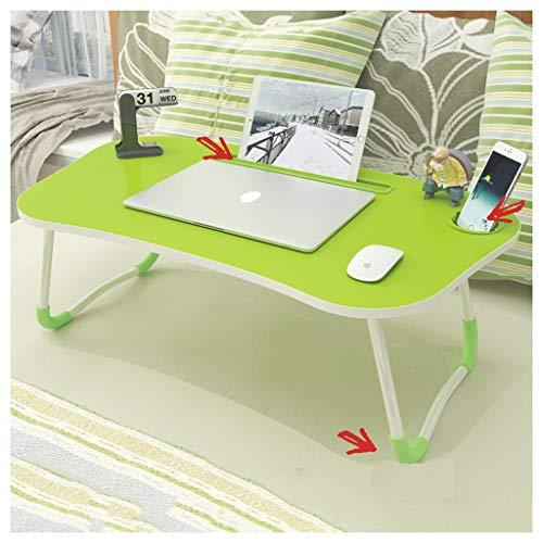 Table Pliante Lit Pliant lit d'ordinateur Portable Bureau-Home College dortoir étudiant (Color : Green)