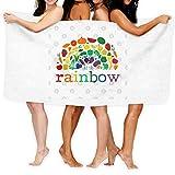 Eat the Rainbow - Toalla de baño de secado rápido, vegetal, vegana, vegetariana, a base de plantas, 1 toalla de baño