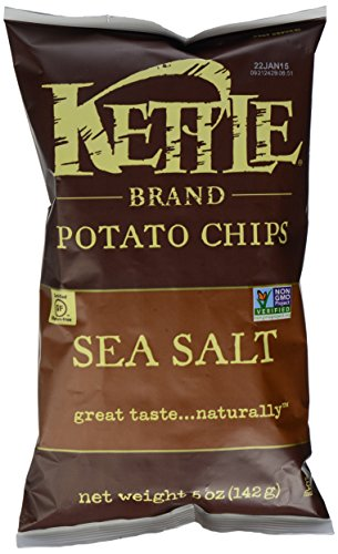 Kettle Brand Natural Gourmet Potato Chips with Sea Salt, 5 oz