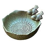 Bird Bath Bowl,Bird Feeder for Outside Yard Ceramic Bird Feeding Bowl Toy for Garden Decor Thistle Seed for Birds Bird Baths for Outdoors