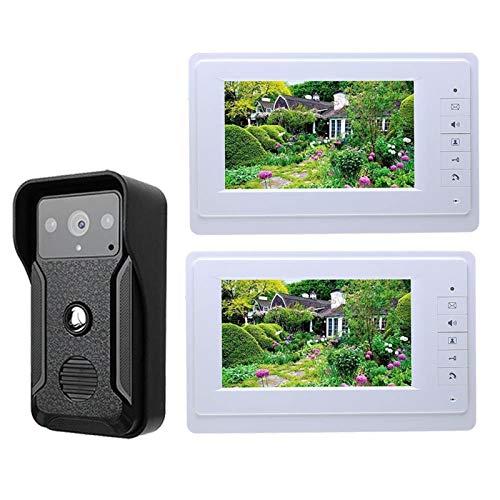 DNAMAZ Portero Sistema de intercomunicador de teléfono de Video Video Video Video Video de Video LCD con cámara IR al Aire Libre Impermeable automatico (Color : G819QA12)